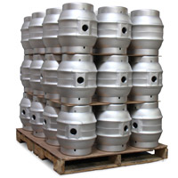 Pallet of 36 Brand New 5.4 Gallon Pin Beer Keg Casks