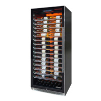 Private Reserve Series 188 Bottle Backlit Panel Commercial Left Hinge 300 Wine Cooler