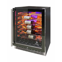 Private Reserve Series 41 Bottle Backlit Panel Commercial 54 Single Zone Wine Cooler