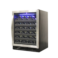 54 Bottle Stainless Steel Wine Cooler