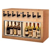 Monterey 8 Bottle Wine Dispenser Preservation Unit - Oak