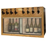 Napa 8 Bottle Wine Dispenser Preservation Unit - Oak