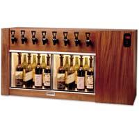 The Magnum 8 Bottle Wine Dispenser Preservation Unit - Mahogany