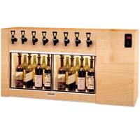 The Magnum 8 Bottle Wine Dispenser Preservation Unit - Oak