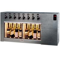 Magnum 8 Bottle Wine Dispenser Preservation Unit - Brushed Stainless Steel #4 Finish