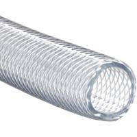 1 Foot of 5/16 I.D. Clear Braided Vinyl Hose
