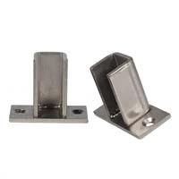 Hidden Base Plate Pair - Brushed Nickel Finish