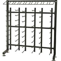 90 Bottle Half Island Display Wine Rack - Satin Black Finish