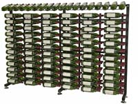 117 Bottle Island Display Wine Rack Extension- Satin Black Finish