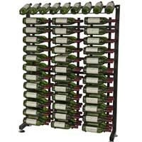 117 Bottle Island Display Wine Rack - Satin Black Finish