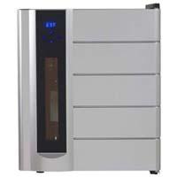 13-Bottle Wine Chiller, Preserver, and Dispenser - Black Cabinet and Platinum Finish Door