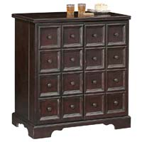 Brunello Hide-a-Bar Wine & Spirits Cabinet