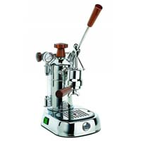 Professional Espresso Maker - Chrome & Wood