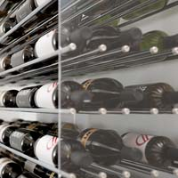 6' Evolution Extension System 126 Bottle Wine Display - Satin Black Finish