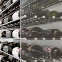 8' Evolution Extension System 162 Bottle Wine Display - Satin Black Finish