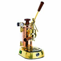 Professional Espresso Maker - Copper and Brass
