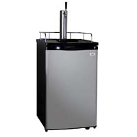 Open Box - Kegco K199SS-1 Single Faucet Full Size Kegerator with Black Cabinet and Stainless Steel Door