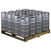 Pallet of 16 Kegs -  7.75 Gallon Commercial Keg with Threaded D System Sankey Valve
