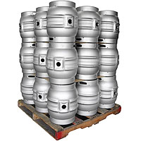 Pallet of 27 Brand New 10.8 Gallon Firkin Beer Keg Casks