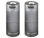 Two Kegco brand new 5 Gallon Commercial Kegs - Drop-In D System Sankey Valve