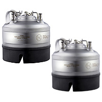 1 Gallon Ball Lock Keg - Strap Handle - NSF Approved - Set of 2