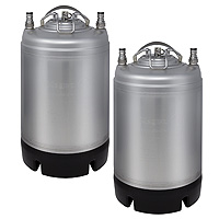 Two 2.5 Gallon Ball Lock Kegs