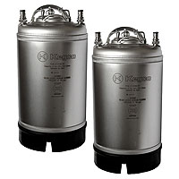 Kombucha Kegs - Ball Lock 3 Gallon Strap Handle - Brand New - Set of 2