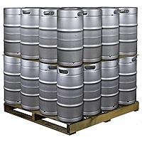 Pallet of 32 Kegs -  7.75 Gallon Commercial Keg with Threaded D System Sankey Valve
