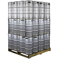 Pallet of 48 Kegs -  7.75 Gallon Commercial Keg with Drop-In D System Sankey Valve