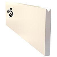 Inventory Reduction - Dry Erase Menu Wall Board Plank - White
