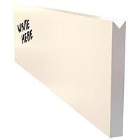 Dry Erase Menu Wall Board Plank - White