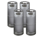 Four Kegco brand new 5 Gallon Commercial Kegs - Drop-In D System Sankey Valve