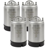 2.5 Gallon Ball Lock Kegs - Strap Handle - NSF Approved - Set of 4