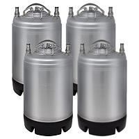 Four 2.5 Gallon Ball Lock Kegs