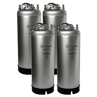 Kombucha Kegs - Ball Lock 5 Gallon Strap Handle - Brand New - Set of 4