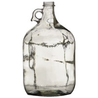 1 Gallon Clear Glass Jug