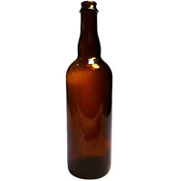 750 ml Belgian Home Brew Beer Bottles - Cork Finish (Case of 12)