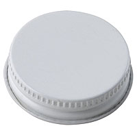 38mm White Metal Screw Cap