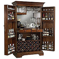 Sonoma Hide-A-Bar Wine & Spirits Cabinet