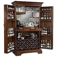Sonoma Hide-A-Bar Wine & Spirits Cabinet