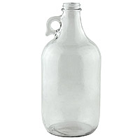 32 oz. Clear Glass Beer Growler