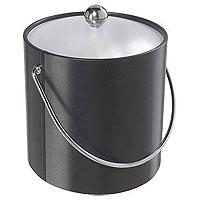 Black Vinyl Ice Bucket