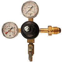 Double Gauge Nitrogen Regulator with Duck-Bill Check Valve