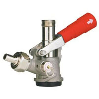 D System Keg Tap Coupler w/ Red Lever Handle
