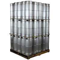 Pallet of 75 Kegs - 5 Gallon Commercial Keg with Drop-In D System Sankey Valve