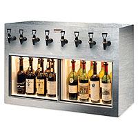 Monterey 8 Bottle Wine Dispenser Preservation Unit - Brushed Stainless Steel