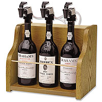 The Vintner 3 Bottle Wine Dispenser Preservation - Oak Cabinet
