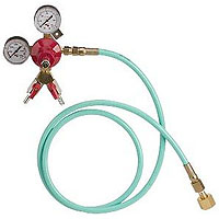 Wall Mount 2-Product Double Gauge Co2 Regulator w/6' High Pressure Hose
