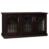 Contemporary Credenza - 115 -Bottle Wine Cellar - Chocolate Cherry Finish