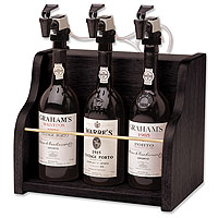 The Vintner 3 Bottle Wine Dispenser Preservation - Black Cabinet